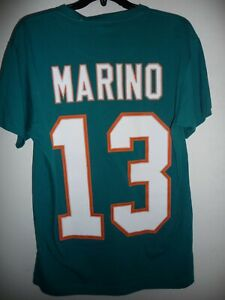 NFL MIAMI DOLPHINS # 13 DAN MARINO THROWBACK JERSEY TEE SHIRT SIZE MEDIUM