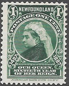 Newfoundland Scott Number 61 SG 66 F NH Cat $3.50