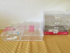 2 set Acrylic Jewelry Makeup Cosmetic Organizer Case Display Holder and  Drawer