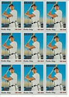 2019 Topps Heritage High AUSTIN RILEY Base Rookie LOT (x10) Braves RC #614