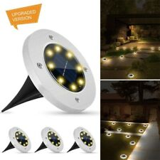 4Pcs Solar Power Disk Lights Waterproof Buried Light Outdoor Under Ground Lamp