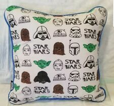 STAR WARS Color Me Pillow 13 X 13 Throw Pillow- Drawn On white tag removed A413