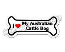 *Dog Bone Magnet* I Love My Australian Cattle Dog Car Truck Locker