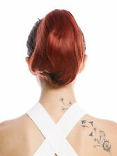 Hair Piece Ponytail Butterfly Clip short Smooth Copper Red 20cm N869-V