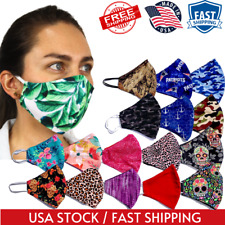 Facemask Printed Face Mask Protection Mouth Mask Cover Reusable Washable