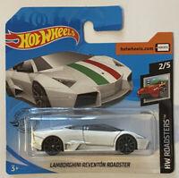 2019 Hotwheels Lamborghini Reventon Roadster White HW Roadsters! Mint! MOC!