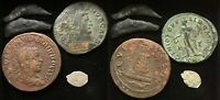 Lot of 5 Coins ( Philip II, Constantius I, Olbia dolphins),
