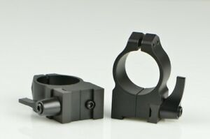 Warne Maxima Scope Rings for CZ 527 1 Inch High Quick Detach Matte 2B1LM