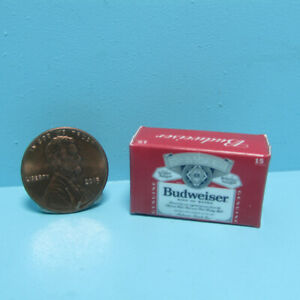 Dollhouse Miniature Replica Budweiser Beer Box / Case