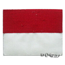 Indonesia National Flag Patch Embroidered  Sew or Iron on Patch