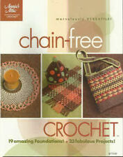 Chain-Free Crochet Patterns Afghan Throw Shawl Purse Doily + Annie's Attic NEW