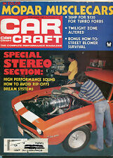 CAR CRAFT MAGAZINE August 1980 Stereo / Mopar Madness pics inside +bonus mag