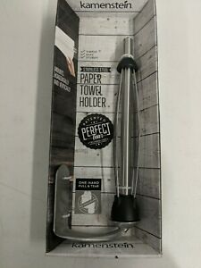 Kamenstein Perfect Tear Patented Wall Mount Paper Towel Holder 14 inch Silver
