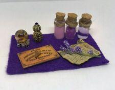 Mysterious Ouija Board Spell Set Dollhouse Fairy Halloween Miniature Purple