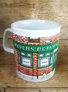 Vintage Coronation Street Novelty Coffee Mug Tea Cup Logo Retro Rovers Return
