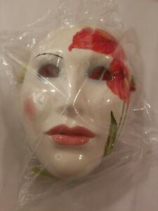 NOS VANDOR Face Mask Ceramic Harlequin Wall Art Japan