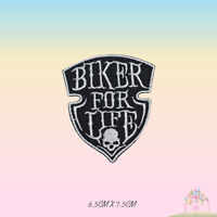 Biker For Life Bikers Group Embroidered Iron On Patch Sew On Badge