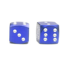 2x Blue Dice Tire Valve Stem Caps Aluminum for Motorcycle Bike BMX Hot Rod Moped