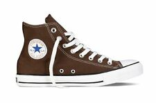 CONVERSE UNISEX MENS/WOMENS CHUCK TAYLOR ALL STAR HI TOPS - UK 7.5 - CHOCOLATE.