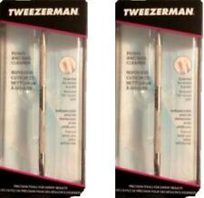 2 X Tweezerman Pushy Cuticle Pusher and Nail Cleaner  038097331509