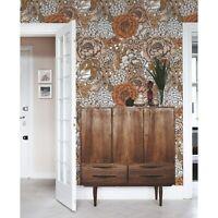 Orange roses removable Wallpaper white mural Self Adhesive Peel & Stick
