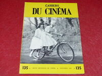 [REVUE LES CAHIERS DU CINEMA] N° 135 # SEPT 1962 HENRI LANGLOIS EO 1rst Printing