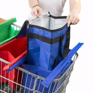 NEW Cool Bag Shopping Trolley Bags Vibe Reusable Eco-Friendly Supermarket