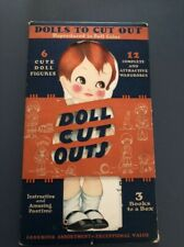 Dolls To Cut Out Folder and 3 books 1927