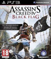 Assassins Creed IV Black Flag Sony PlayStation 3 Ps3 Video Game Pegi 18 Ubisoft