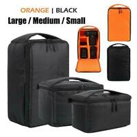 Waterproof Shockproof Camera Bag Padded Insert SLR Carry Case Pouch Canon Nikon