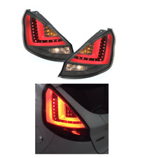 Ford Fiesta Mk7.5 Facelift 13 - 17 Smoked LED Lightbar Rear Lights Taillights