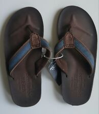 NEW Abercrombie & Fitch Leather Flip Flops -  Men's size S  Small SAVE!!!
