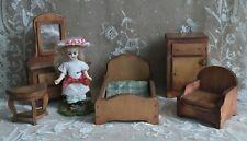 Maison de poupées acajou festonné table basse victorien 1:12 living room furniture