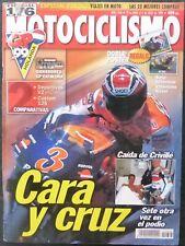 REVISTA MOTOCICLISMO,AÑO 1999,NUMERO 1636,Cara y Cruz,Caida de Criville.