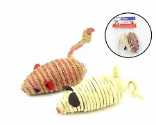 wholesale lot ( 20 pack) three size cat-kitten play mouse with ball toy (2-pack)