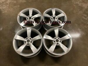 """19"""" X4 TTRS CONCAVE Rotor Style Alloy Wheels Silver Polished Audi A4 A5 A6 A7"""