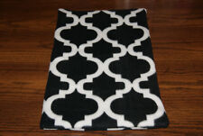 New Black & White Bella Trellis Fleece Dog Cat Pet Carrier Blanket Free S/H! Bcr