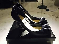 Chanel Navy Camellia Heels Shoes Pumps Sz41