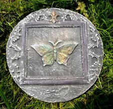 Butterfly w fleur plastic mold plaster concrete casting mould