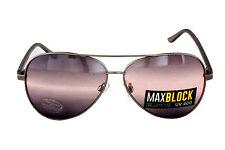 Foster Grant FG19 Unisex Aviator Style Sunglasses Silver Frame Black Grey Lenses
