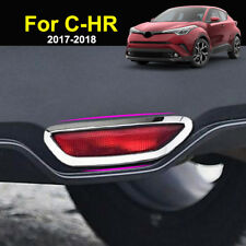 For Toyota C-HR CHR 2017 2018 Chrome Rear Bumper Brake Light Cover Trim Molding