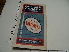 Vintage Tourist paper: EASTERN CANADA imperial dealer MAP, 1940