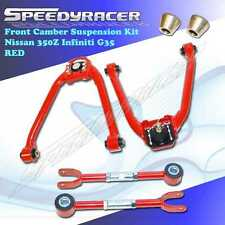 For 03-07 Nissan 350z Infiniti G35 RED Front and Rear Camber Suspension