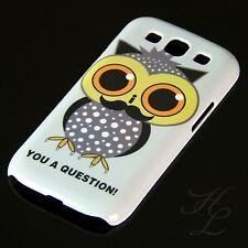 Samsung Galaxy S3 NEO Hard Handy Schale Case Schutz Hülle Eule Schnurbart Owl