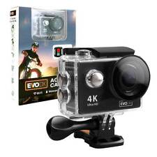 EvoDX Ultra HD 4K 30M Waterproof WiFi Action Camera With Remote, 2 x Batteries
