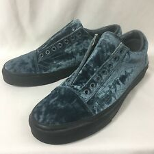 NEW Vans Mens 9 Blue Velvet Skateboarding Shoes Sneakers