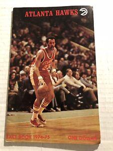 1974 75 ATLANTA Hawks Yearbook Media Guide JOHN DREW Herm GILLIAM Lou HUDSON