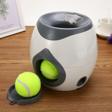 Pet Dog Toys Automatic Tennis Ball Launcher Food Dispenser Fetch Reward Machine