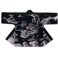 Japanese Traditional Festival Coat HAPPI Black Dragon Kimono Roomwear JAPAN New