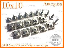 NEW GENUINE OEM UNDER ENGINE COVER GEARBOX WHEEL ARCH CLIPS AUDI VW SKODA 10x10